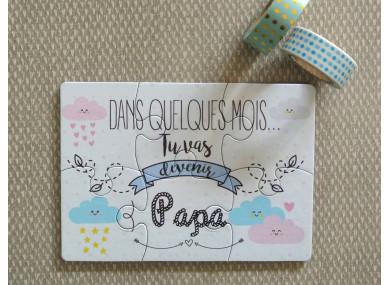 Puzzle « Tu vas être papa »