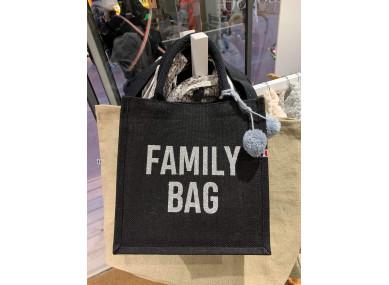 SAC Cabas noir FAMILY BAG