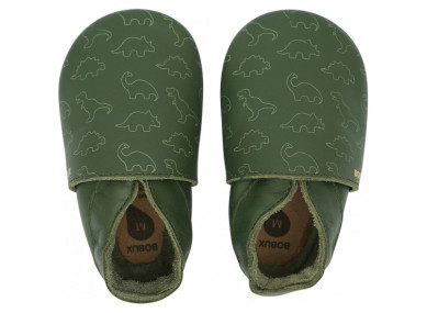 Chaussons Soft Sole Dino Olive