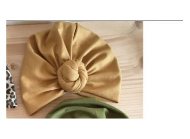 Bonnet / turban nœud fleur...