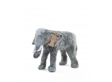 Peluche debout éléphant