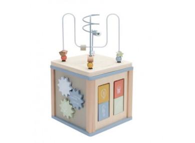 Cube d'activités en bois Ocean